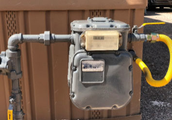 photo of a natural gas meter, Liberty-Gandy provides master gas meter inspection near me