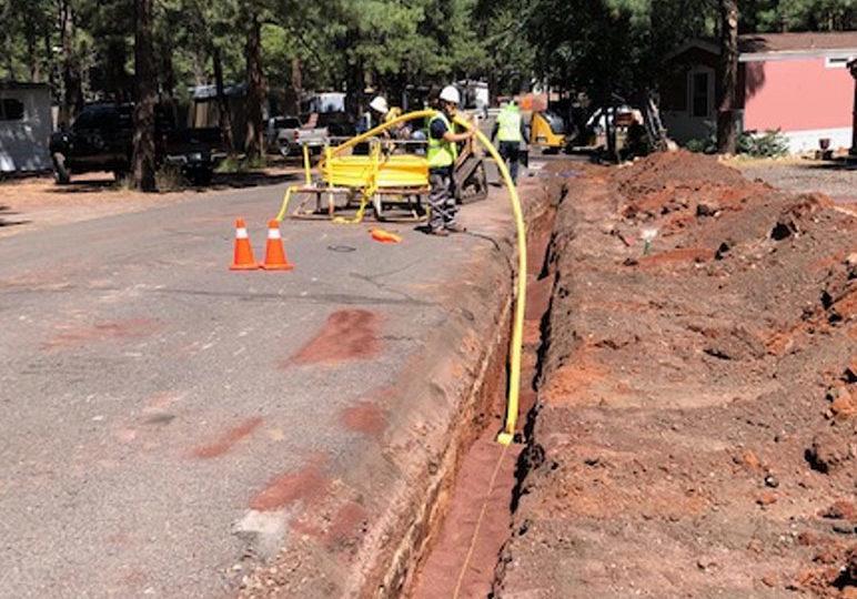 photo of emergency pipeline repair services in progress